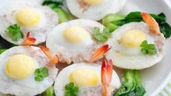 Ngon miệng, ngọt mắt với trứng cút hấp tôm thịt