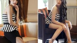 Hot girl Vân Navy khoe vai trần quyến rũ, chân dài miên man