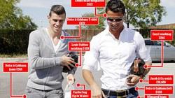 """Phong cách thời trang, Bale """"xách dép"""" cho Ronaldo"""