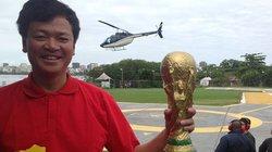 Choáng: CĐV Việt Nam thuê trực thăng xem trực tiếp World Cup từ trên không
