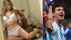 Phóng viên Argentina nóng bỏng trút xiêm y ủng hộ Messi
