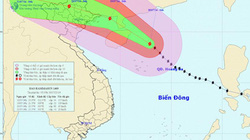 Siêu bão Thần Sấm đang áp sát quần đảo Hoàng Sa