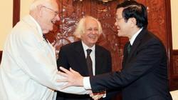Chủ tịch nước Trương Tấn Sang tiếp hai học giả lý luận Marxist