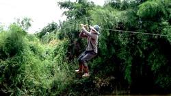 Đu dây sang sông, một phụ nữ rơi từ độ cao 10 mét