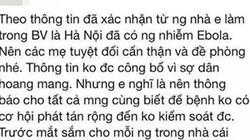 Vợ chồng tin tung dịch Ebola vào Việt Nam bị phạt 20 triệu đồng
