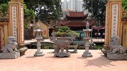 """""""Linh vật"""" sư tử đá kiểu Trung Quốc bủa vây chùa ở Hà Nội"""