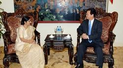 Thủ tướng Nguyễn Tấn Dũng tiếp Bộ trưởng Ngoại giao Ấn Độ