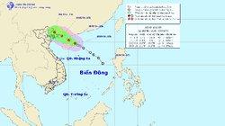 Áp thấp nhiệt đới giật cấp 8-9 đang tiến vào vịnh Bắc Bộ