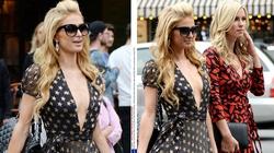 Paris Hilton vô cùng gợi cảm khi thả rông ngực dạo phố