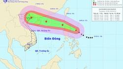 Bão giật cấp 14-15, di chuyển nhanh đang áp sát biển Đông
