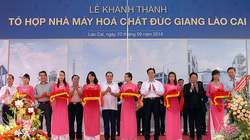 Thủ tướng Nguyễn Tấn Dũng dự lễ khánh thành Tổ hợp nhà máy hóa chất Đức Giang Lào Cai
