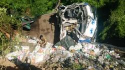 Xe tải đổ đèo Cù Mông lao xuống vực, tài xế tử vong tại chỗ