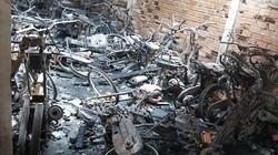 60 xe máy cháy rụi trong kho tiệm cầm đồ