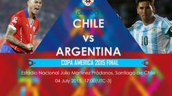 Video trận chung kết Argentina vs Chile