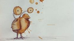 Kinh ngạc nghệ thuật từ những vệt cà phê đổ