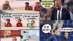 """ẢNH CHẾ: Ramos """"lôi kéo"""" Ronaldo, Neuer bị Pep """"đá văng"""""""