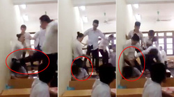 Clip: Nhóm nam sinh đánh hội đồng dã man 1 nữ sinh