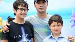 Vẻ điển trai lai Tây của 2 con trai MC Anh Tuấn