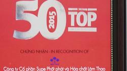 """Lâm Thao vào top """"50 Công ty kinh doanh hiệu quả nhất Việt Nam"""" 2015"""