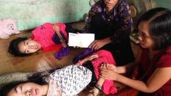 Mong giúp đỡ 2 cháu gái bị bại não, liệt tứ chi