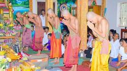 Nghi thức tu báo hiếu tại chùa Khmer ở An Giang