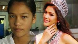 """Lộ ảnh cũ """"tố"""" tân hoa hậu Hoàn vũ Thái Lan """"dao kéo"""""""