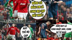 "ẢNH CHẾ: Schweinsteiger ""dạy dỗ"" Rooney, Mourinho mỉa mai David Moyes"