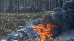 Video: Trực thăng Nga rơi khi biểu diễn, phi công tử nạn
