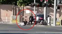 Mỹ: Cảnh sát liều mình cứu tài xế say xỉn trên đường tàu