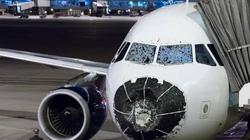 Máy bay Airbus 320 hạ cánh khẩn cấp vì mưa đá gây vỡ kính