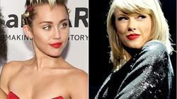 """Miley Cyrus so sánh việc """"thả rông"""" với MV của Taylor Swift"""