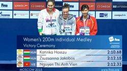 HLV không bất ngờ khi Ánh Viên giành huy chương thế giới