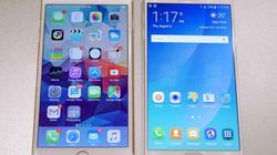 Galaxy Note 5 đọ dáng iPhone 6 Plus