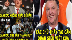 """ẢNH CHẾ: Van Gaal """"nổ vang trời"""", Ronaldo chế nhạo Barca"""