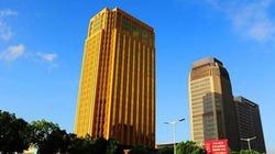Choáng với tòa nhà vàng làm lóa mắt cả thành phố