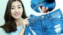 Tự chế jeans rách siêu độc và cá tính dễ như ăn kẹo