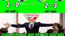 """ẢNH CHẾ: V.League là giải đấu """"khó tin"""" nhất, Van Gaal hủy hoại M.U"""