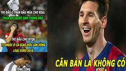 """ẢNH CHẾ: Messi chế nhạo Ronaldo, V.League là """"lò võ"""" lớn nhất"""