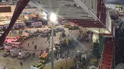 Hiện trường sập cần cẩu tại thánh đường Hồi giáo lớn nhất thế giới