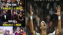 ẢNH CHẾ: Ronaldo toàn thua Messi, derby nước Anh quá buồn