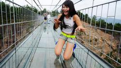 """""""Toát mồ hôi"""" với cây cầu bằng kính cao nhất thế giới"""