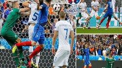 """Clip: """"Dội mưa bàn thắng"""" vào lưới Iceland, Pháp hẹn gặp Đức"""