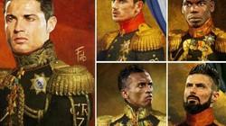 Ronaldo hóa thân thành tướng quân dưới nét vẽ nghệ thuật