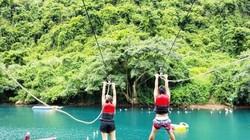 Đu dây mạo hiểm trên sông Chày - hang Tối