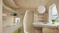 Độc đáo với thiết kế đầy đủ tiện nghi của ngôi nhà gỗ 10m2