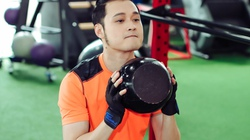 Quang Vinh tập gym để tái xuất showbiz ở tuổi 34