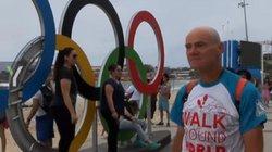 Cụ ông đi bộ 18.200km từ Nga tới Rio để xem Olympic 2016