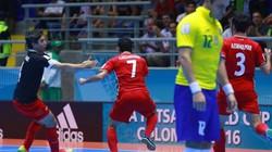 ĐT futsal Iran gây sốc, loại ĐKVĐ Brazil bằng luân lưu