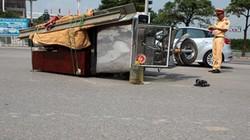 HN: Xe ba bánh tiếp tục gây họa, 2 người bị thương nặng