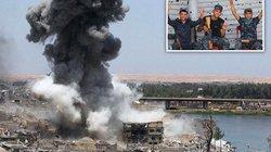 """Thất trận, chiến binh IS lao xuống sông, trốn """"mưa bom bão đạn"""""""